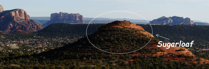 Sedona Red Rock Formation - Sugarloaf
