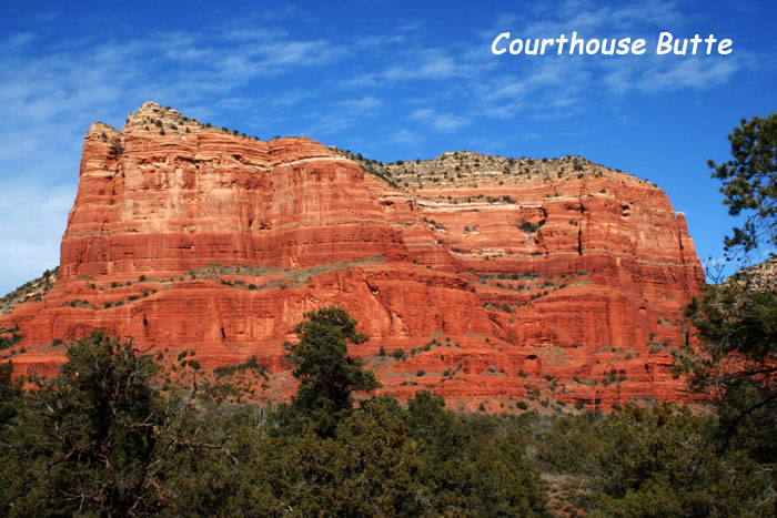 Sedona Red Rock Formation - Courthouse Butte